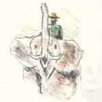 Visser Zeichnen Elefant